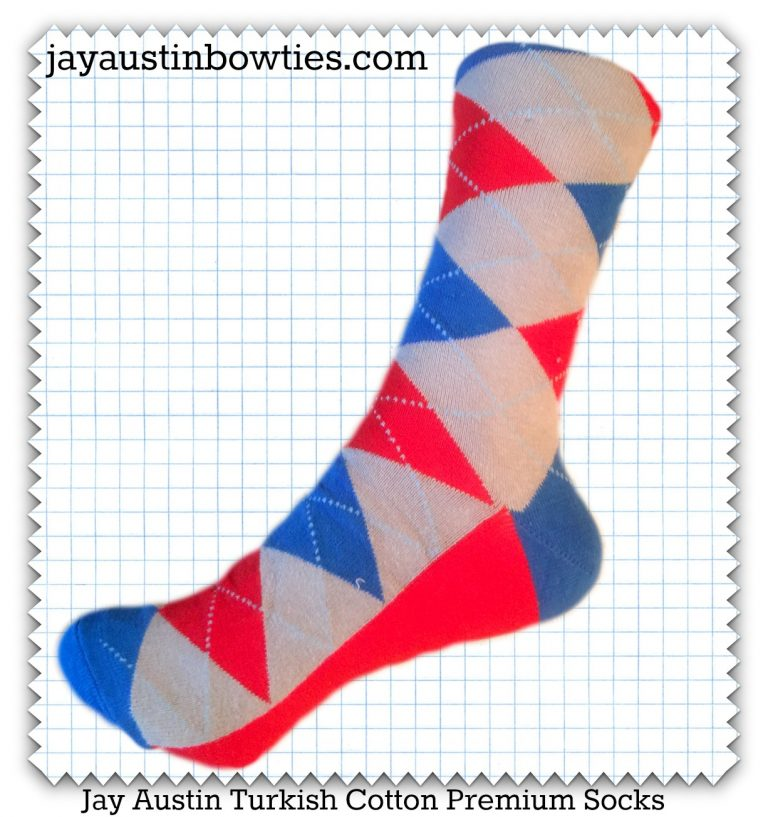 Argyle Blue & Red