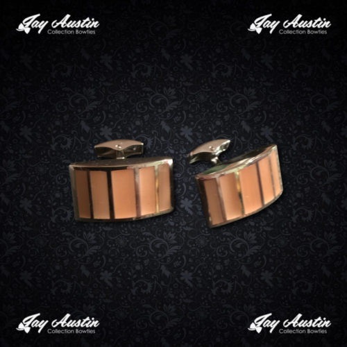 Gold Plated Modern Executive Cufflinks