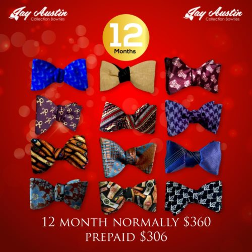 Pre Paid 12 Month Bowtie of the Month Club