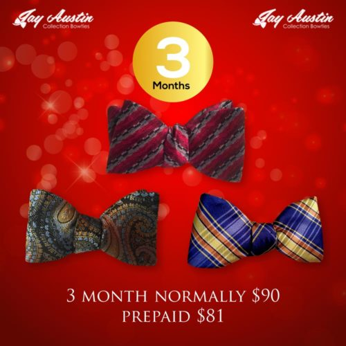 Pre Paid 3 Month Bowtie of the Month Club