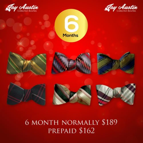 Pre Paid 6 Month Bowtie of the Month Club