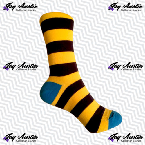 Large Yellow Navy Stripe Cobalt Tip